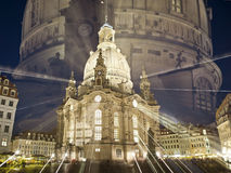 Frauenkirche by night Royalty Free Stock Photo