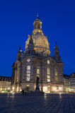 Frauenkirche by night. Illuminated Frauenkirche by night in Dresden Royalty Free Stock Photo