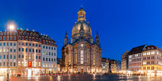 Frauenkirche at night in Dresden, Germany Royalty Free Stock Photo