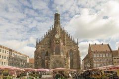 Frauenkirche, Nuremberg, Alemania Imágenes de archivo libres de regalías