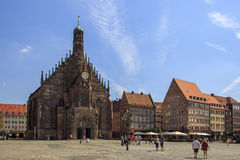 Frauenkirche in Nuremberg, Germany, 2015 Royalty Free Stock Photography