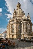 Frauenkirche in the old town of Dresden Stock Photos