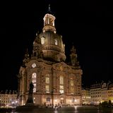 Frauenkirche in the old town of Dresden Stock Photography