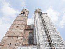 Frauenkirche renovation Royalty Free Stock Image