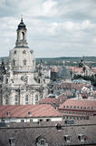 Frauenkirche and roofs of Dresden Stock Images
