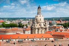 Frauenkirche and roofs of old Dresden Stock Images