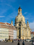 Frauenkirche temple in Dresden, Germany Stock Photos