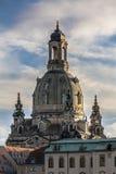 Frauenkirche vóór de zonsondergang royalty-vrije stock foto