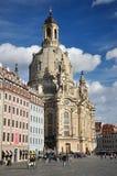 Frauenkirche w Drezdeńskim Zdjęcie Stock