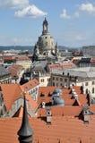 Frauenkirche y azoteas, Dresden Imágenes de archivo libres de regalías