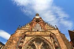 Frauenkirchen i Nuremberg Arkivbild