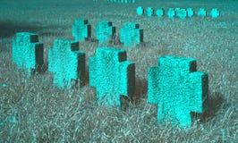 Frauenkirchen pomnika krzyże Fotografia Royalty Free