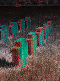 Frauenkirchen pomnika krzyże z dramatycznym skutkiem Fotografia Stock