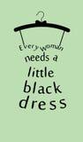 Frauenkleid mit Zitat. Stockbilder