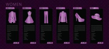 Frauenkleidung Lizenzfreie Stockfotos