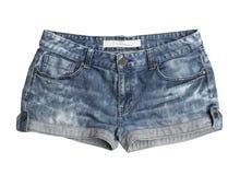 Frauenkurze jeanshose Stockbilder
