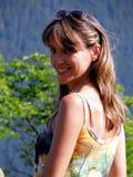 Frauenlächeln lizenzfreies stockbild