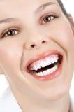 Frauenlächeln lizenzfreie stockfotografie