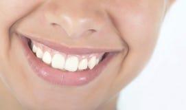 Frauenlächeln und -zähne Lizenzfreies Stockbild