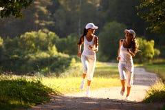 Frauenlack-läufer Lizenzfreies Stockbild