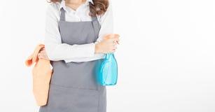Frauenmädchen halten nebelig und Gewebe lizenzfreie stockbilder