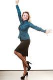 Frauenmanager des zweifelhaften Geschäfts Stockfoto