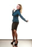 Frauenmanager des zweifelhaften Geschäfts Lizenzfreie Stockbilder