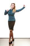 Frauenmanager des zweifelhaften Geschäfts Stockbild