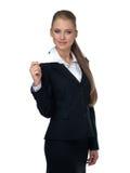 Frauenmanager in einer Klage lizenzfreie stockfotos