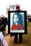 Frauenmarsch Washington DC lizenzfreie stockbilder