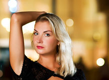 Frauennahaufnahmeportrait Lizenzfreies Stockbild