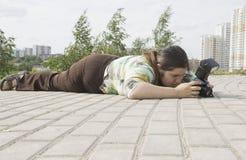 Frauenphotograph Stockfoto
