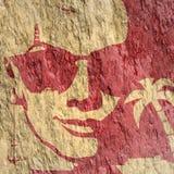 Frauenporträt in der Sonnenbrille Lizenzfreies Stockfoto