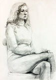 Frauenportrait vektor abbildung