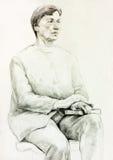 Frauenportrait stock abbildung