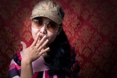 Frauenportrait stockfoto