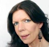 Frauenportrait, middleage Lizenzfreie Stockbilder
