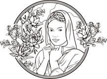 Frauenportrait, Vektor lizenzfreie abbildung