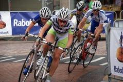Frauenradfahren Lizenzfreies Stockbild