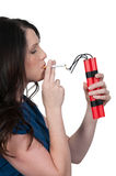 Frauenraucher Stockfoto