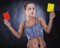 Frauenrichter lokalisiert Lizenzfreie Stockfotos