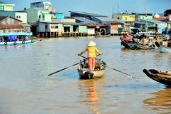 Frauenrudersport auf Booten Stockbild