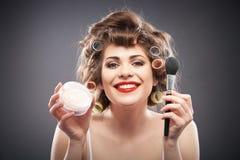 Frauenschönheits-Artporträt Stockfoto