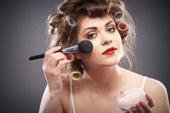 Frauenschönheits-Artporträt Lizenzfreies Stockfoto