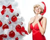 Frauenschönheitsweihnachten Stockbilder