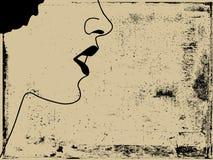 Frauenschattenbild lizenzfreies stockfoto