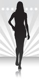 Frauenschattenbild Stockbilder