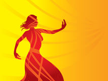Frauenschattenbild-Farbenform lizenzfreie abbildung