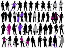 Frauenschattenbilder Stockfoto
