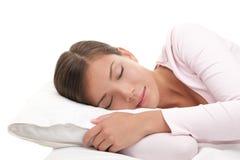 Frauenschlafen Lizenzfreie Stockfotografie